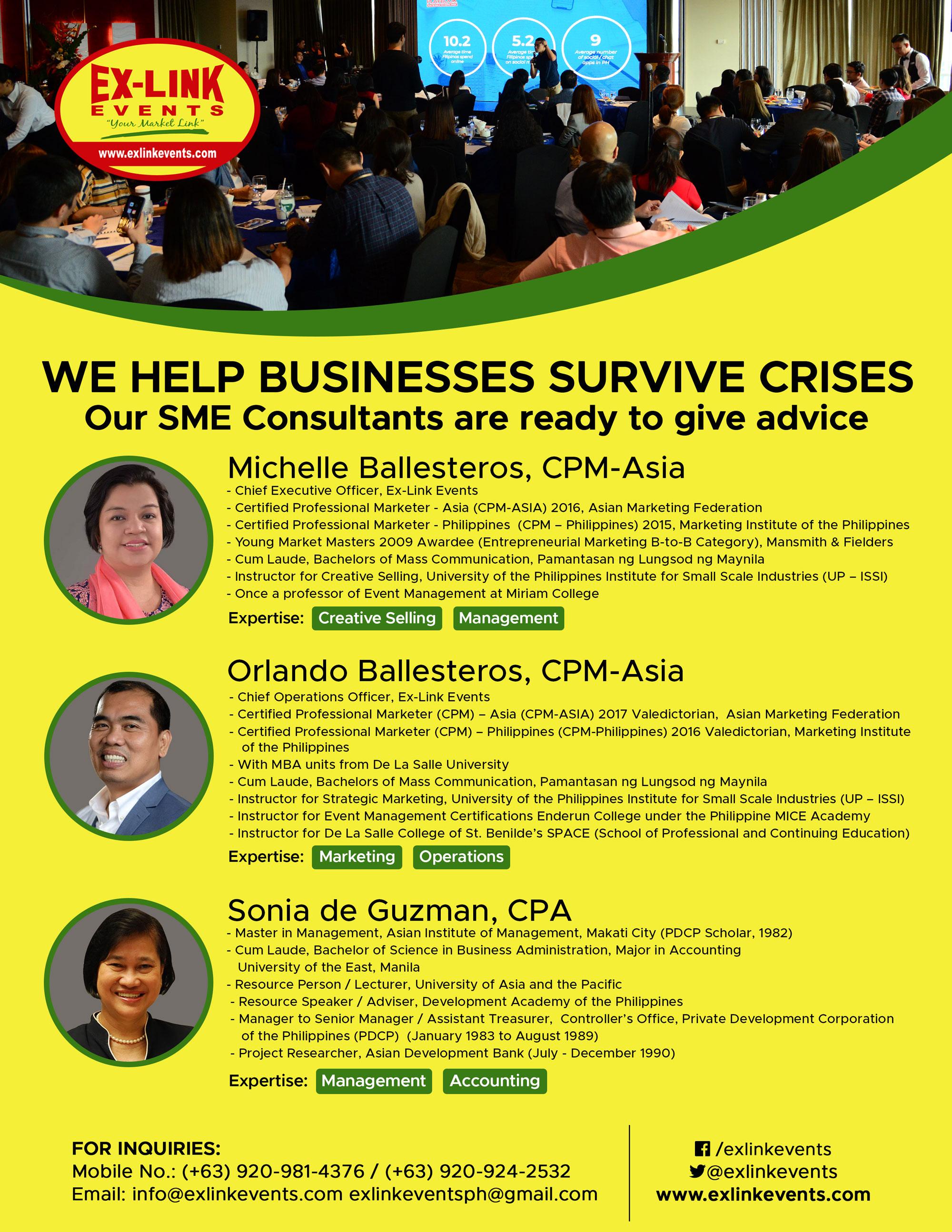 SME Consultancy · Event Management Philippines